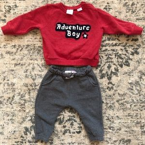 Zara sweatshirt and pants outfit size 9-12 months